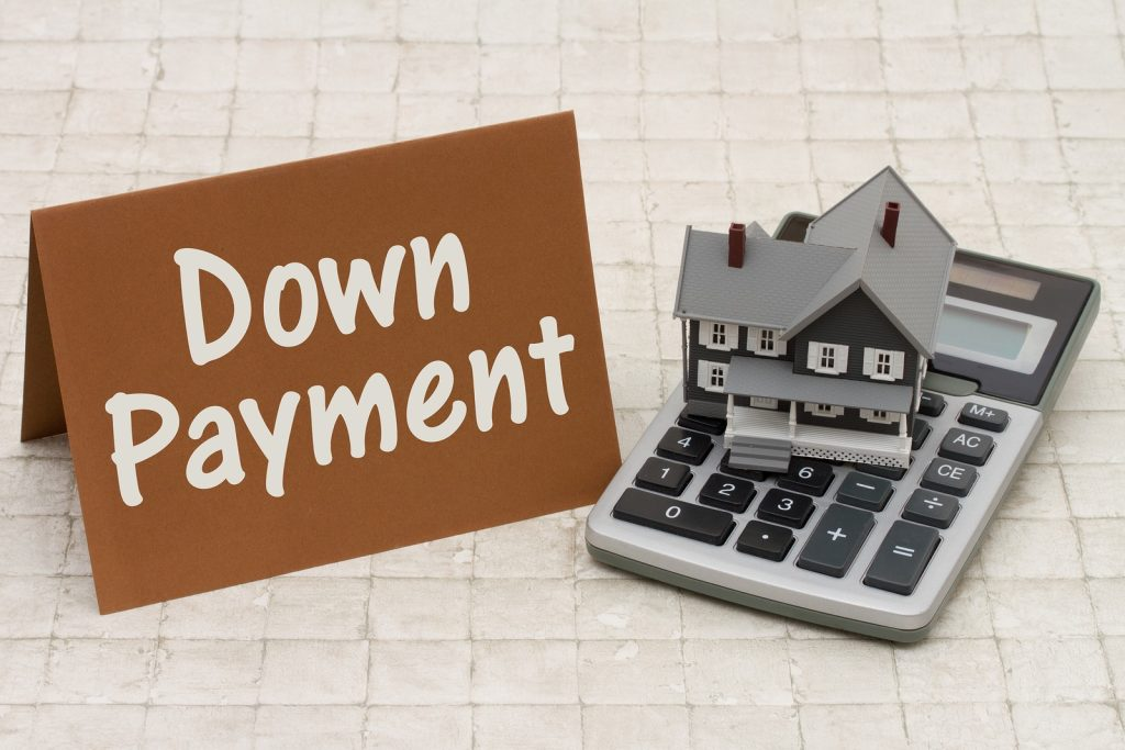 Down Payment On A House >> Home Mortgage Down Payment A Gray House Brown Card And